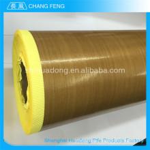 Atractivo precio nuevo tipo PTFE recubierto de tela adhesiva de teflón de fibra de vidrio