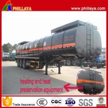 30-50 M3 Tri-Axle Heated Bitumen Transport Asphalt Tanker Trailer