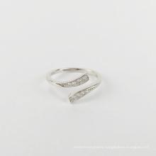 925 sterling silver women's ring split ring classic flat diamond zircon