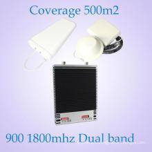 Репитер / репитер сигнала мобильного телефона 2g 3G горячего сбывания напольный удваивает диапазон 900 / 1800MHz GSM репитер сетноой-аналогов