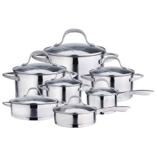 14-piece stainless steel pots and pans set