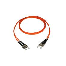 2M ST/ST Duplex Multimode Fiber Optic Patch Cord