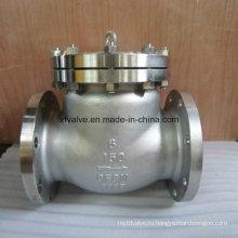 150 фунтов стерлингов Запорный обратный клапан с фланцем из нержавеющей стали CF8m