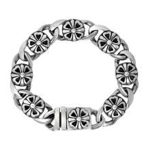 Silberkette Armbänder Männer Mode Punk & Rock Stailess Stahl Schmuck