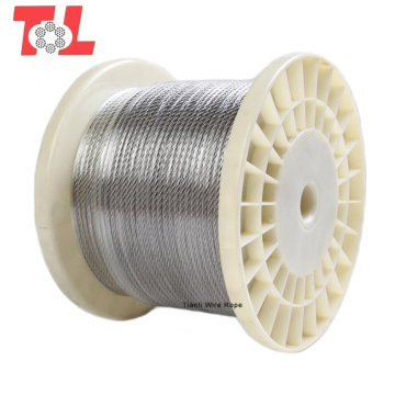 Cable de acero inoxidable 304 7x7 4 mm