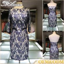 2016 Alibaba por encargo al por mayor vestido de novia de la manera de la alta calidad de la manera que la madre formal de las mujeres del vestido de la novia