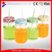 16 унций Открытый Jar питьевой тиснением Mason Jar без ручки