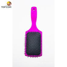 Escova de Detangling da escova da pá do toque de veludo para o alisamento & o alisamento do cabelo para o cabelo molhado e o cabelo seco