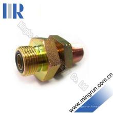 Mâchoire à joint torique mâle métrique hydraulique avec écrou de blocage (6E-LN)