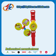 Venda quente de plástico crianças relógio de brinquedo com capas