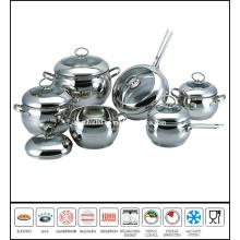 12PCS Apple Shape Cookware Set Stainless Steel