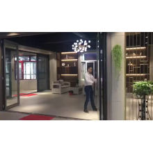 Aluminium Double Glass Sliding Folding Door for Entrance