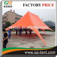 Big printing outdoor double top sar shade changing tent 8x12m in orange