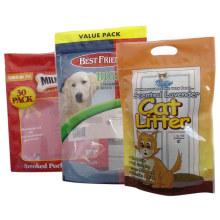 Saco do alimento para cães da parte inferior lisa / saco de plástico de alumínio dos alimentos para animais de estimação / alimentos para animais de estimação