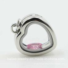 Moda de aço inoxidável jóias coração Locket pingente para as mulheres