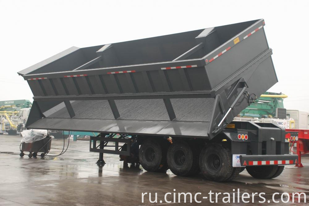 Work2 Tri Axle Side Dump Semi Trailer
