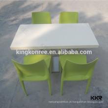 Cafetaria redonda personalizada e mesa de pedra de mármore