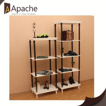 Popular for the market factory directly 3 tier wood frame shoe rack display