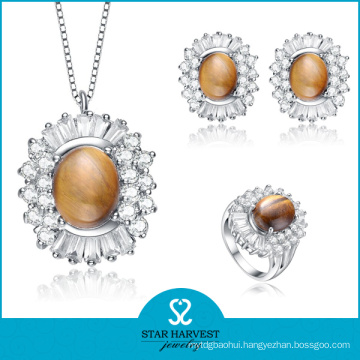 925 Silver Fashion Semi-Precious Stone Rings and Pendants (J-0142)