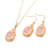 2017 Fashion Necklace and Earrings Sets for Women Gold Plated