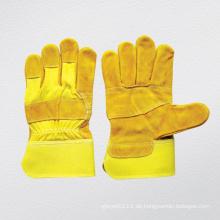 Gelber Kuh Split Patched Palm Handschuh (3059)