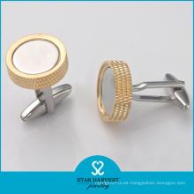 Mancuernas de cobre amarillo del metal de la venta al por mayor del fabricante de China (BC-0004)