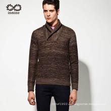50% Lana 50% Acrílico Chal Collar Pullover Man Knitwear