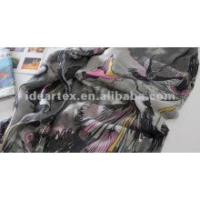 Personalizar diseño impreso gasa bufanda y vestido de la señora