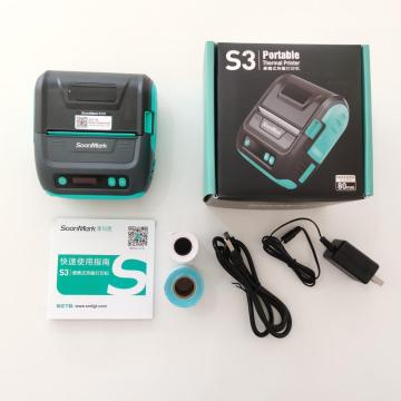 Mini Bluetooth 3 Zoll Thermoempfang Barcode Drucker