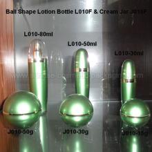 Flacon de 30ml 50ml 80ml boule forme émulsion presse