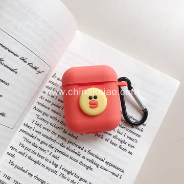 Cartoon Design For Airpod Cover with Chain Protective Silicone Portable Case
