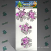 Décoration en cristal de Noël en cristal transparent de 8 cm