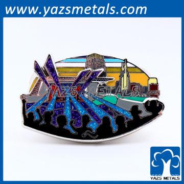 custom metal promotion decorative metal badge christmas ornaments