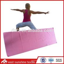 Belle serviette de yoga, serviette de gym avec logo, serviette de yoga en microfibre souple