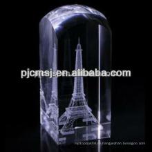 Кристалл куб с Эйфелевой