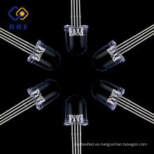 Nuevo diseño Precio bajo durable Especialmente diseñado 8 mm redondo RGB led Common Anode water clear