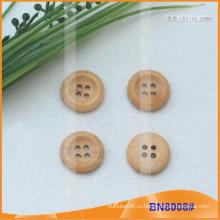 Естественные деревянные кнопки для одежды BN8008