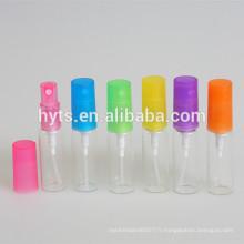 col de sertissage coloré taille différente échantillon flacon de parfum