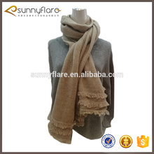 Bufanda hecha punto de la cachemira de la borla del color sólido más nuevo de la moda