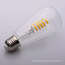 clear soft filament st64 4w led filament bulb