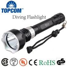 TOPCOM LED submarino luz mergulho lanterna underwater tocha impermeável T6 lâmpada