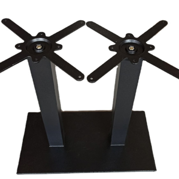 black double legs table frame for dining use