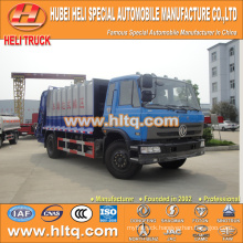 DONGFENG 4x2 12 M3 garbage collect truck with pressing mechanism diesel engine 190 hp