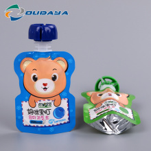 Gusset Bags with Baby Food Safe Spout Cap