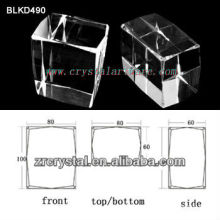 cristal blanco de alta calidad para 3d ebgraving laser