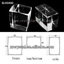 high quality blank crystal for 3d laser ebgraving