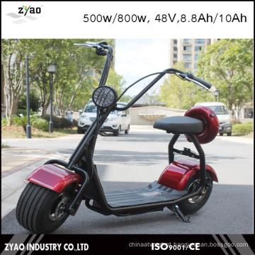 2016 Scooter elétrico popular do estilo de Harley com rodas grandes, trotinette City City da cidade da forma