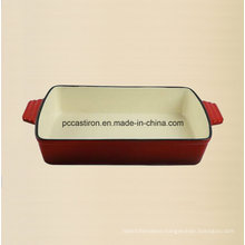 Enamel Cast Iron Baking Pan Manufacturer From China