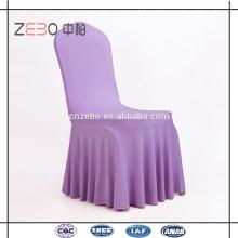 Atacado Spandex tecido colorido casamento usado fantasia Ruffled Chair Cover