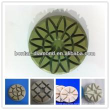 Diamond resin polishing and buffing pads